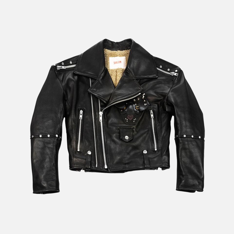 <SIIILON>Exclusive leather jacket