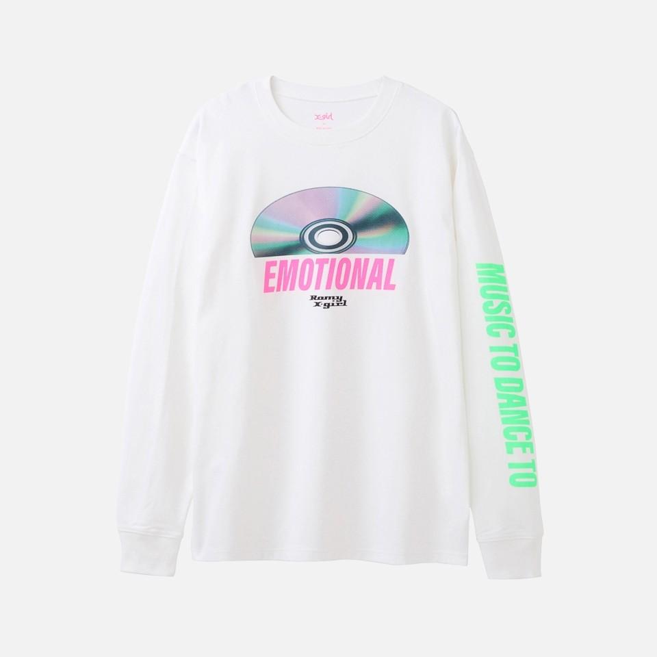 X-girl × Romy DISC L/S TEE