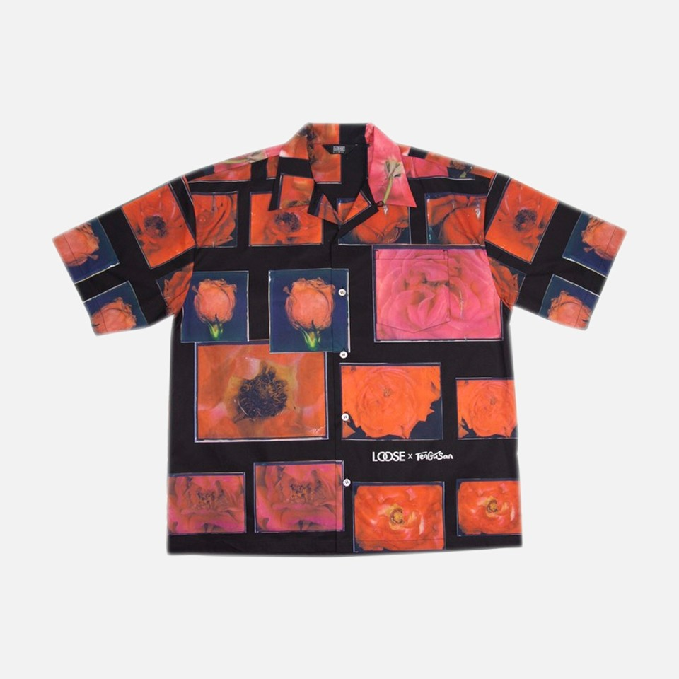 red flower aloha shirts