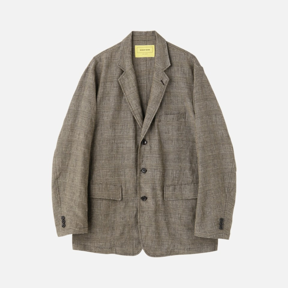 GLEN CHECK TAILORED JACKET