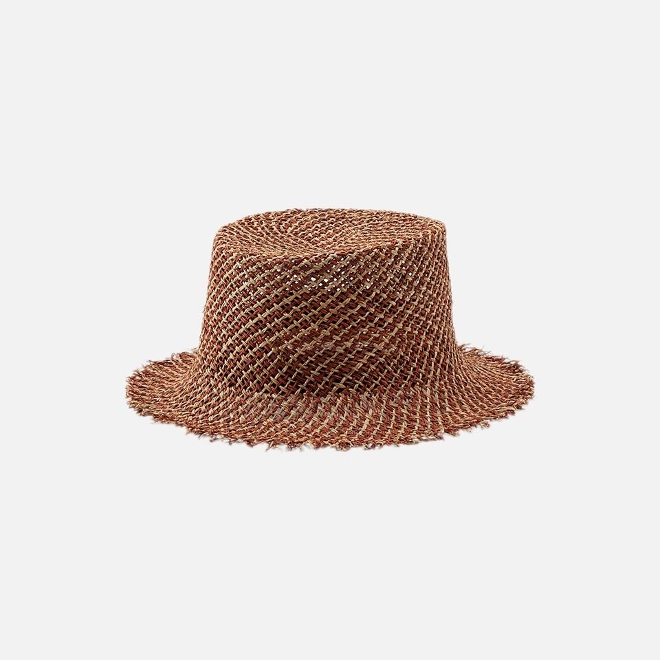MIX RAFIA BUCKET HAT