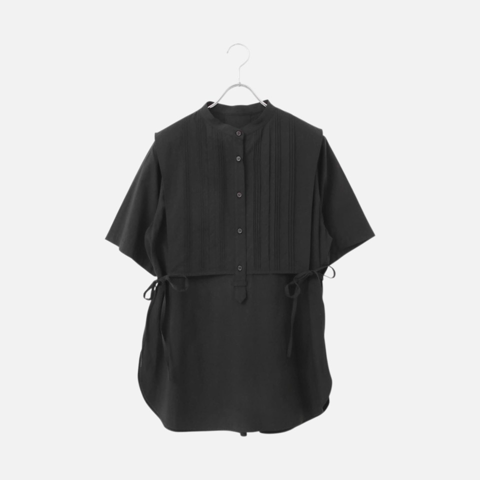Pin-tuck layered shirt