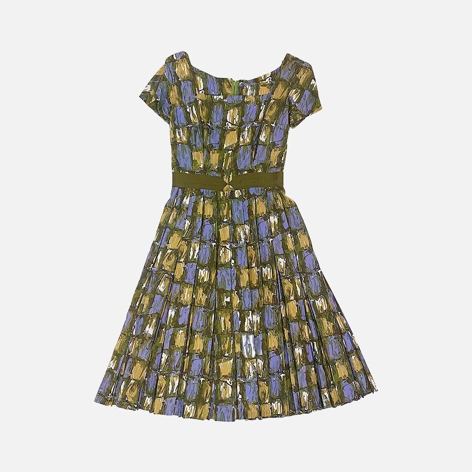 1950's Art Print Dress