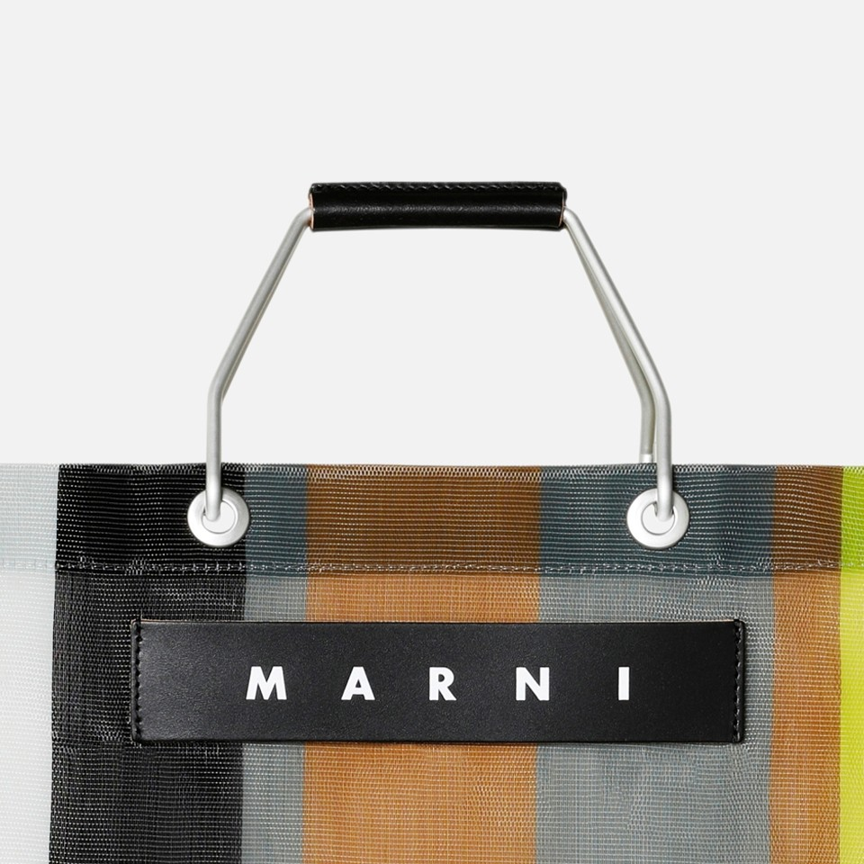 <MARNI MARKET>STRIPE BAG-SOFT BEIGE