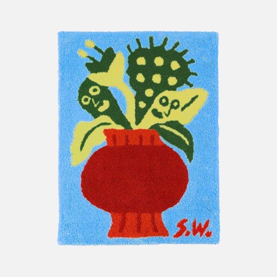 Shiomi Wada FLOWER RUG Blue