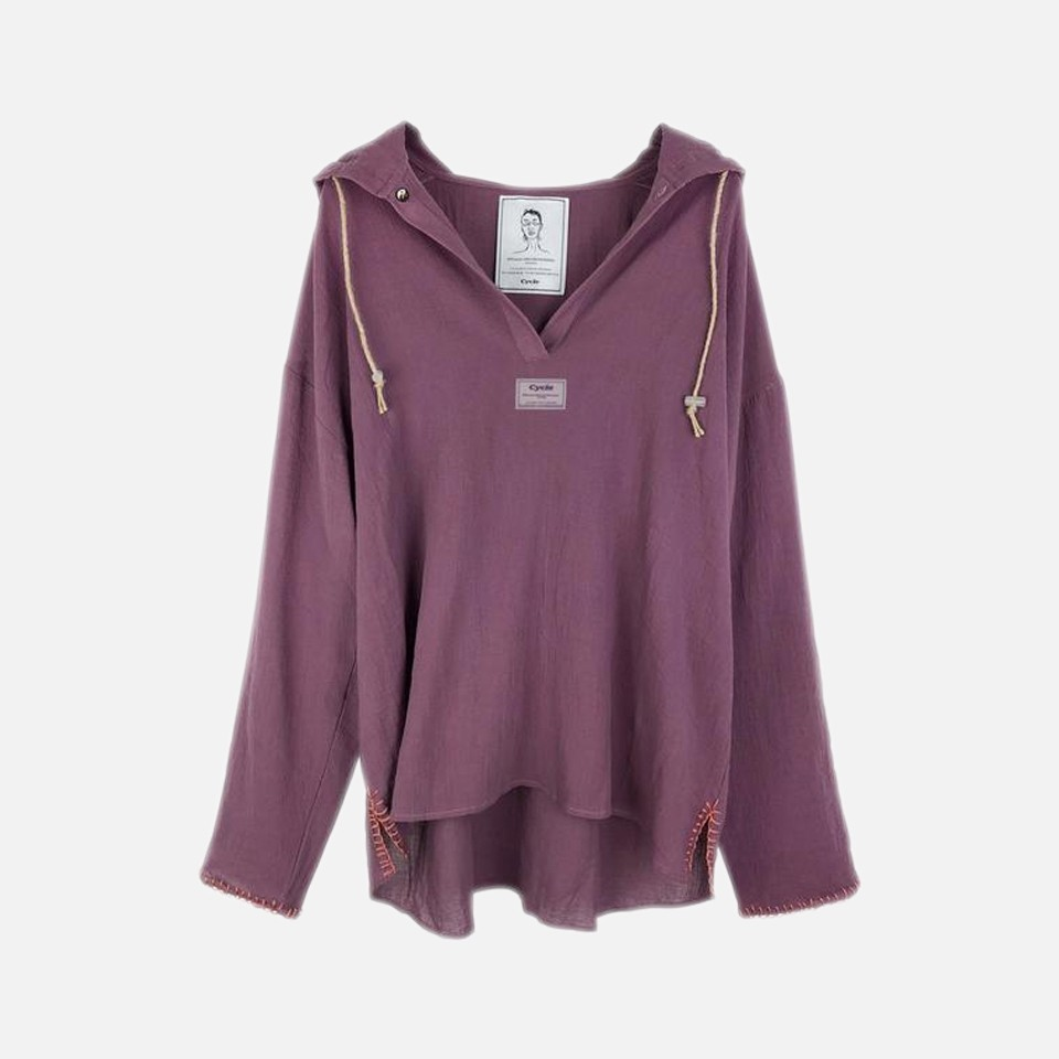 ORGANIC COTTON CHILL OUT HOODIE -PURPLE-