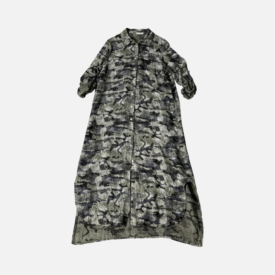 Camouflage longsleeve one-piece