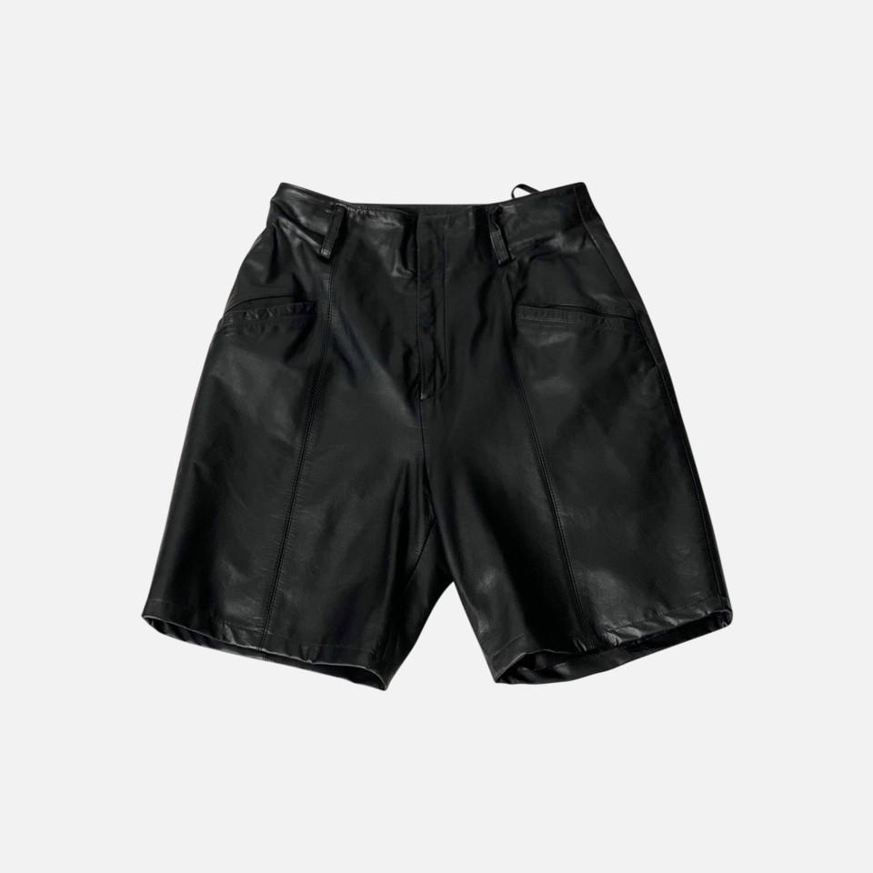 1980s Leather Short pants