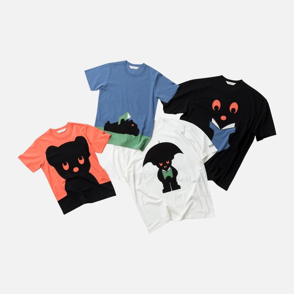 cotton jersey BLACK BEAR T-shirt