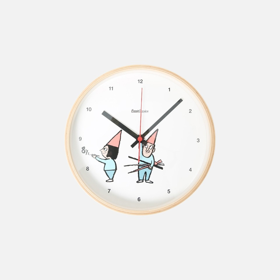 ean Jullien × FreshService® CAPSULE COLLECTION WALL CLOCK