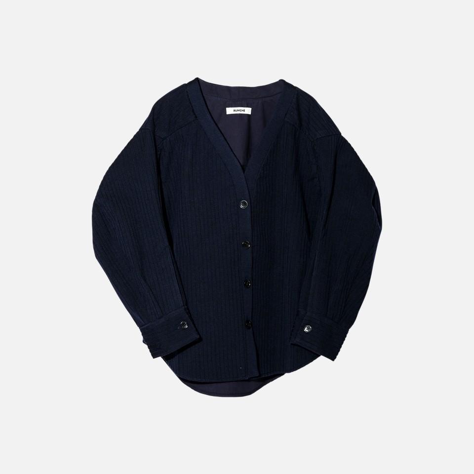 Knit Bonding Shirt Jacket