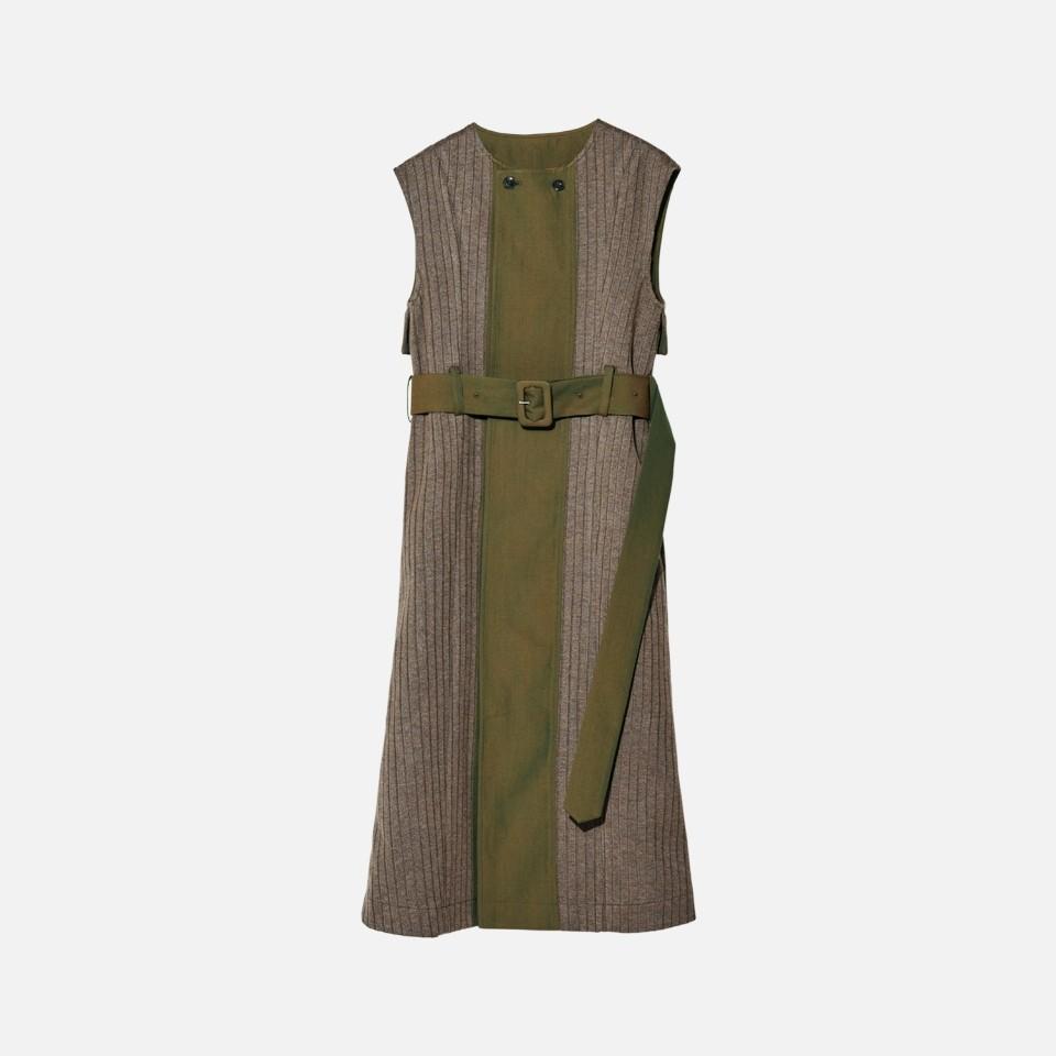 Knit Bonding Long Vest