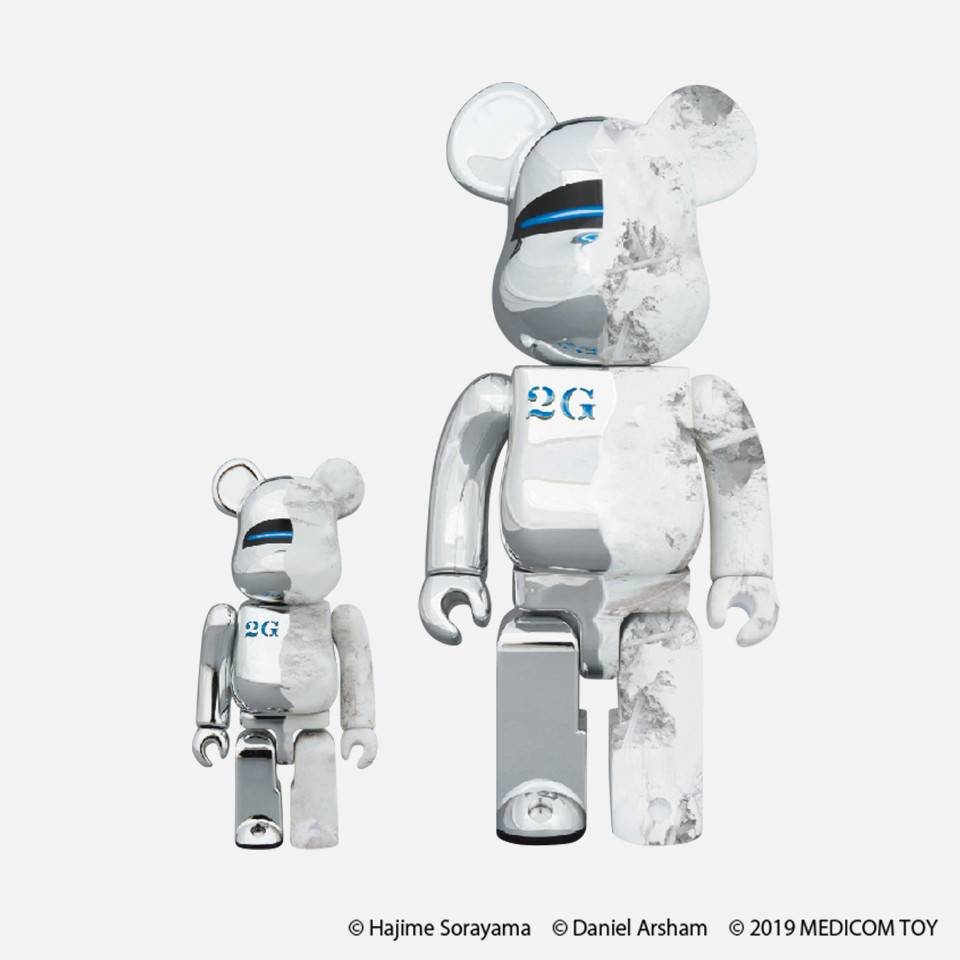 BE@RBRICK SORAYAMA X Daniel Arsham100 %/400%/1,000% (each overall height about 70mm/280mm/700mm)
