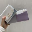 新作のバイカラー財布♡