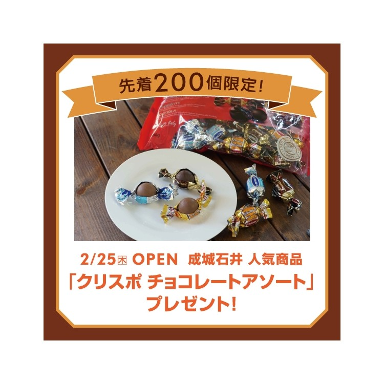 "200 first arrival-limited! Seijo Ishii popular item ""chocolate assortment"" present!"