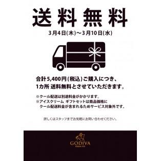 3/4~3/10 送料無料キャンペーン