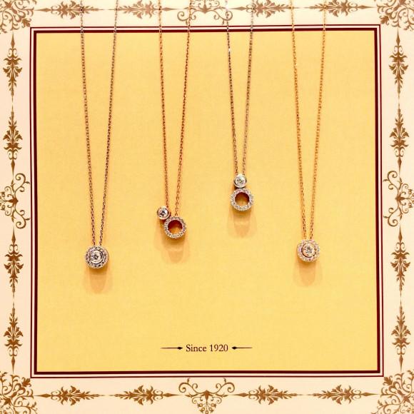 星の輝くダイヤモンドネックレス