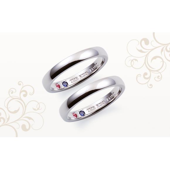 結婚指輪の内側に誕生石をお入れできます♡