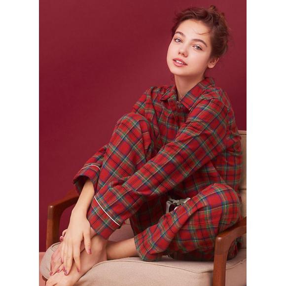 ♥人気☆両面起毛フランネルシャツパジャマ♥