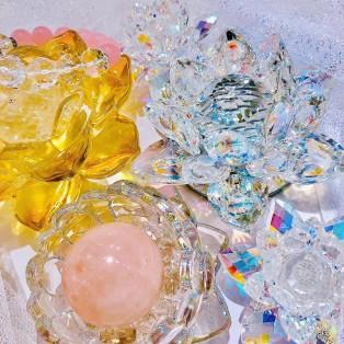 ★蓮のガラスオブジェ 新作入荷★