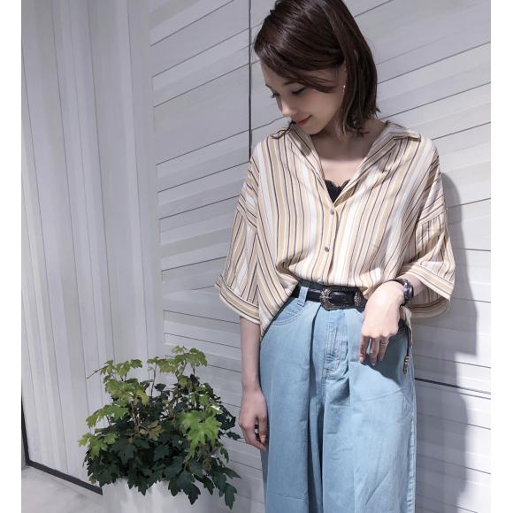 【1番人気!夏重宝すること間違いなしオリエンタルなとろみシャツ♡】
