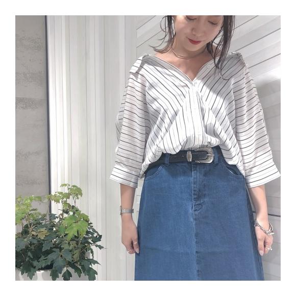 【スタッフ&お洒落さんに大人気♡♡フリンジ加工が可愛いリメイクスカート】