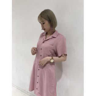 【形が綺麗なミニワンピ♡】RAYON MINI DRESS
