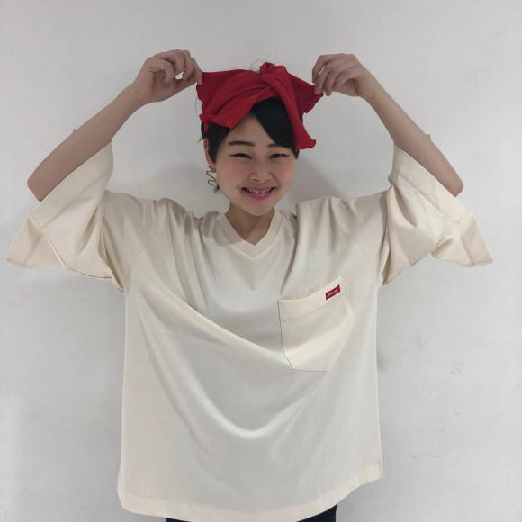 【袖のスリットがポイント★☆】V NECK POCKET TOP