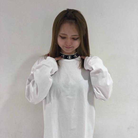 【1枚でもかわいい♡】X-GIRL X CHAMPION L/S MOCK NECK TEE