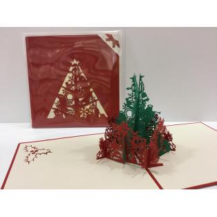 開いたらクリスマスツリーが飛びだします
