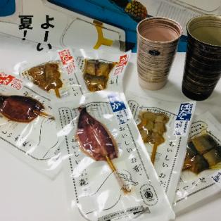 密封串焼き(イカ、ホタテ、サバ)