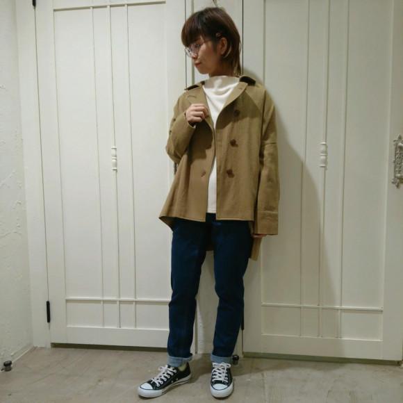 静岡の気温にぴったりな薄手コート☆彡