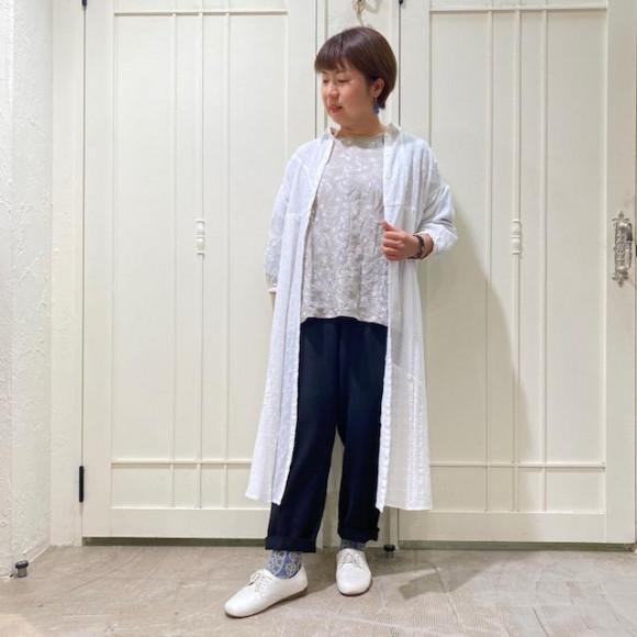 羽織りにも☆パッチワークシャツワンピース