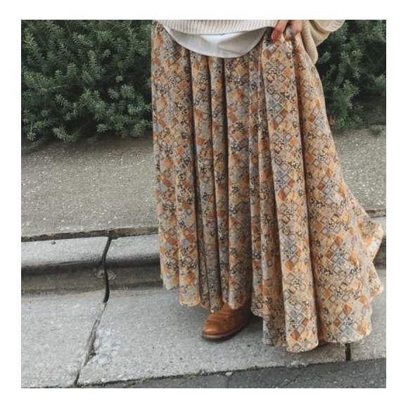 リーフレット掲載中☆タイルプリントギャザースカート