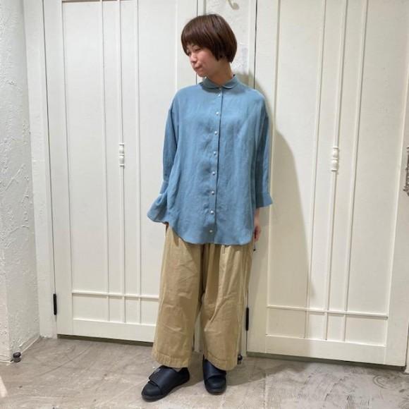 接触冷感◎レーヨンリネンのゆるシャツ