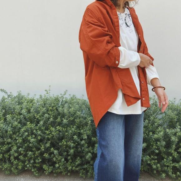 秋色★羽織りシャツ