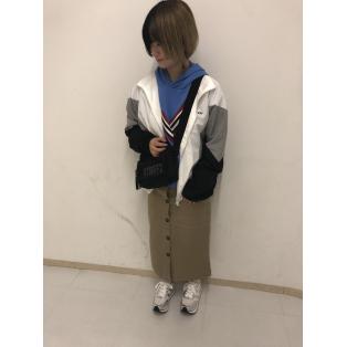 パネルカラーロゴジャケット~白原~