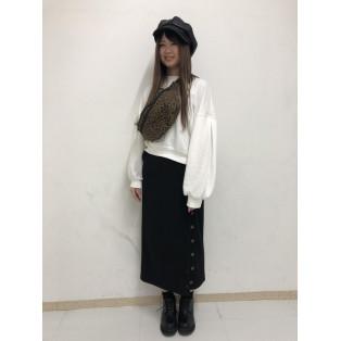リブボタンタイトスカート~福興~