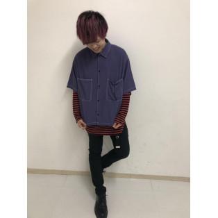 ステッチカラービッグシャツ(5)~斉藤~