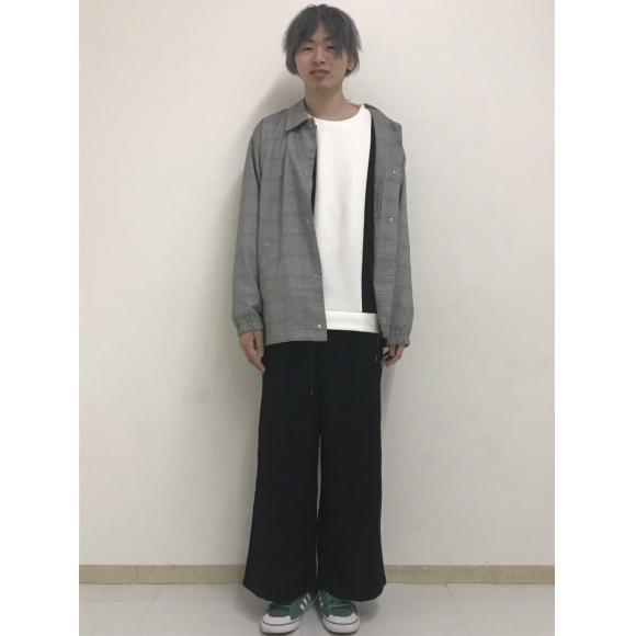 ストライプ切替プルオーバー〜石神〜