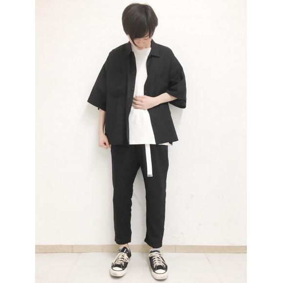 麻レーヨンオーバーシャツ(5)〜石神〜