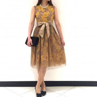 新作花柄ドレス