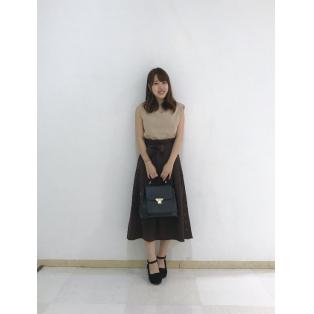 ☆新作☆サイドボタンリボン付きスカート