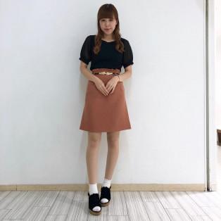 ベルト付スカート♡