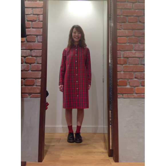 [TARTAN SHIRT DRESS]2019Spring新作ワンピース!!