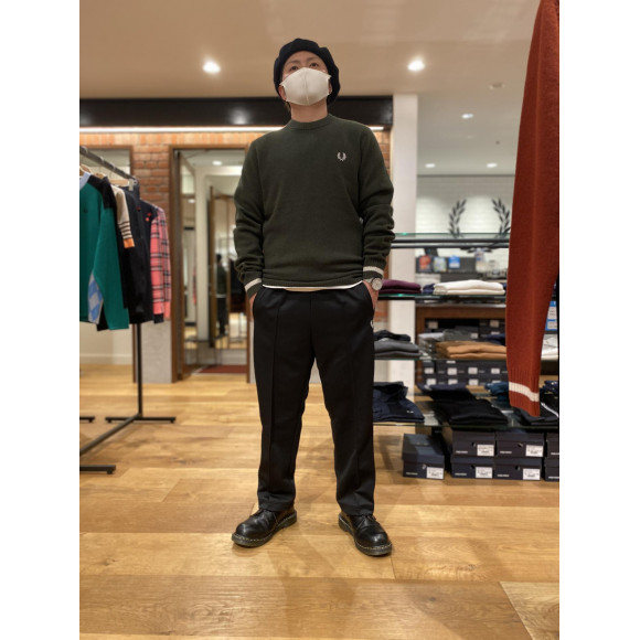 TIPPED CREW NECK JUMPERのご紹介♪