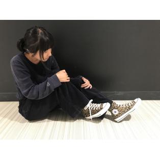 【 大流行 レオパード柄のコンバース 】