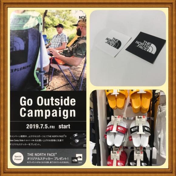 THE NORTHFACEのサンダルを購入でオリジナルステッカーをプレゼント【Go Outside Campaign】