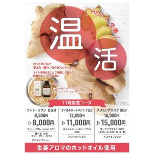 11月限定コース【温活パート2】