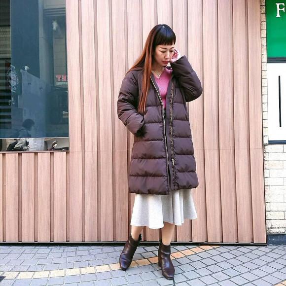 暖かいロングコート